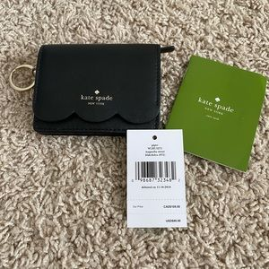Kate Spade Scallop Card Wallet Case Keychain NEW!!